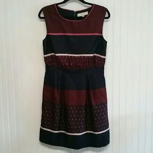 Loft Sleeveless Zip Up Dress